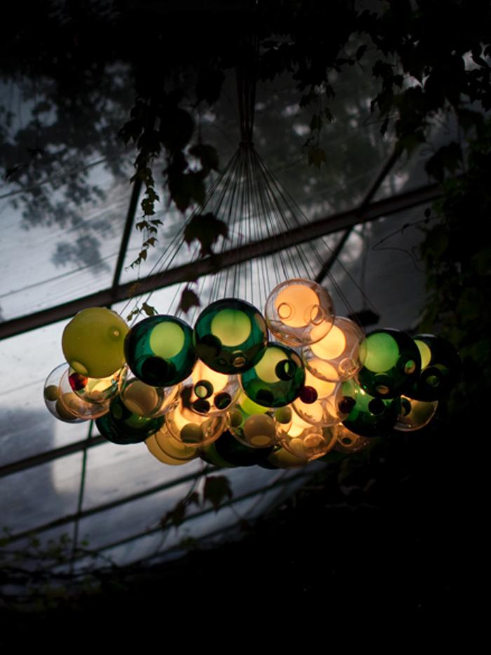 Green lamps Bocci
