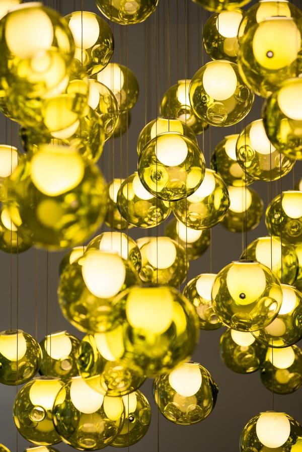 Yellow glass lamps Bocci