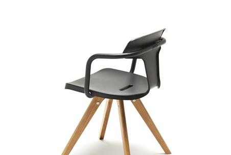 Silla madera negra tolix muebles mallorca