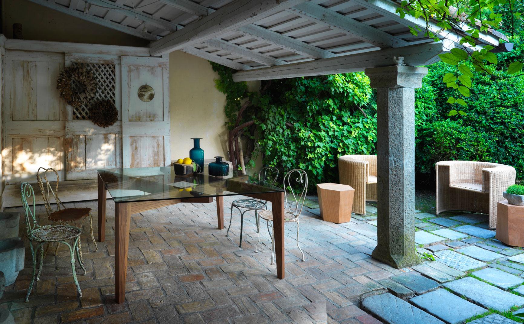 mesa exterior porche horm mallorca
