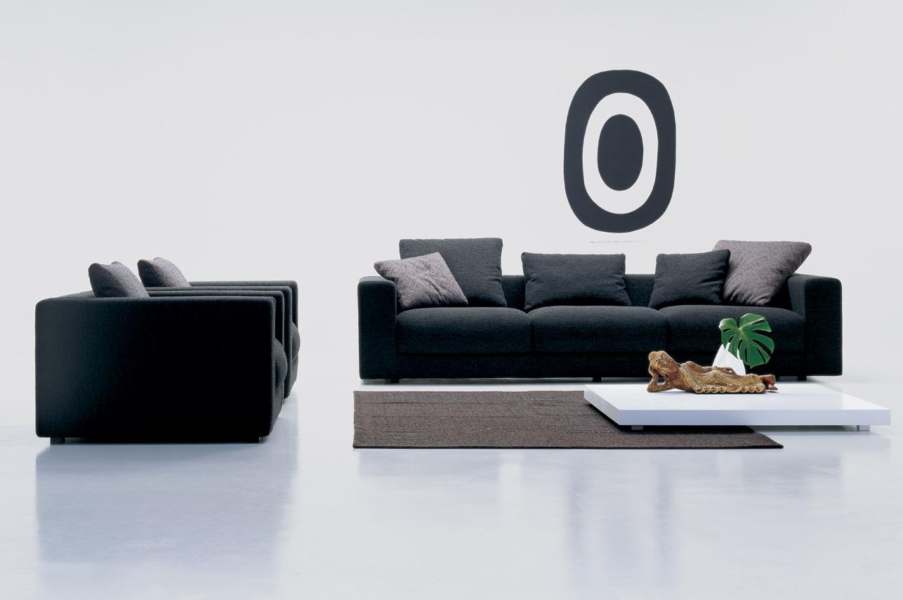 salon sofa negro loft carmenes mallorca