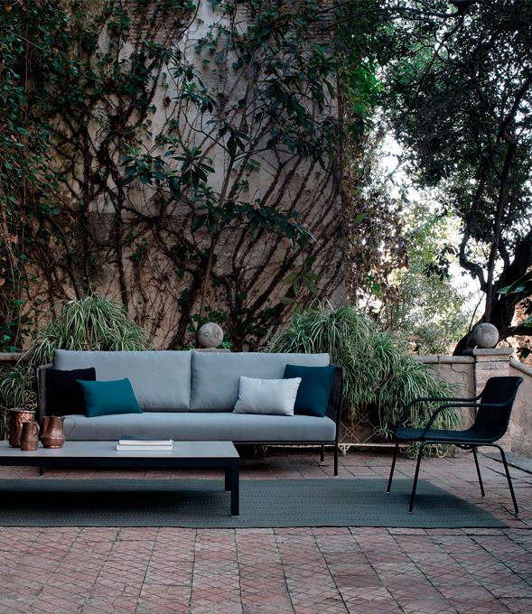 sofá exterior azul expormim mallorca