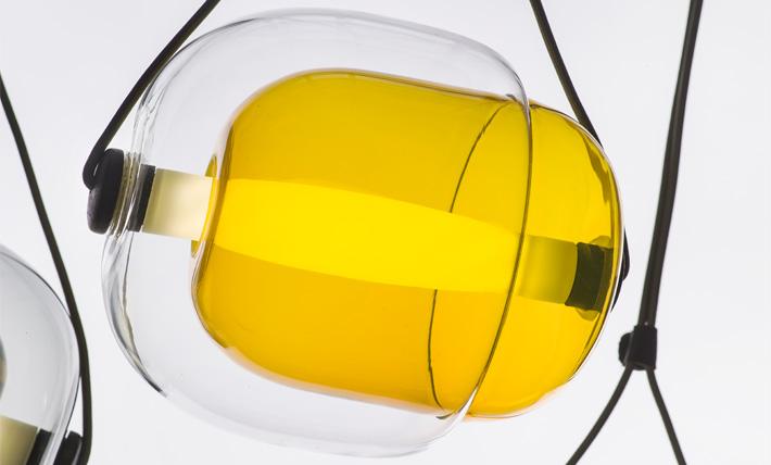 lampara capsula brokis mallorca amarilla