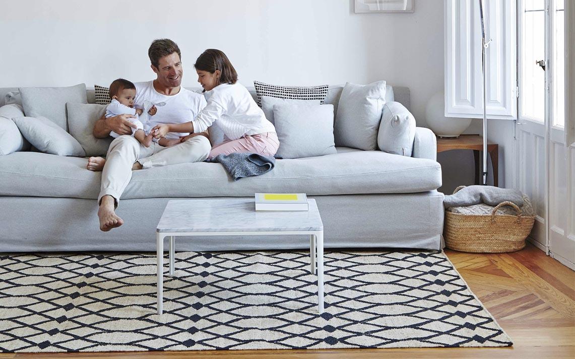 alfombra blanco y negro gan mallorca