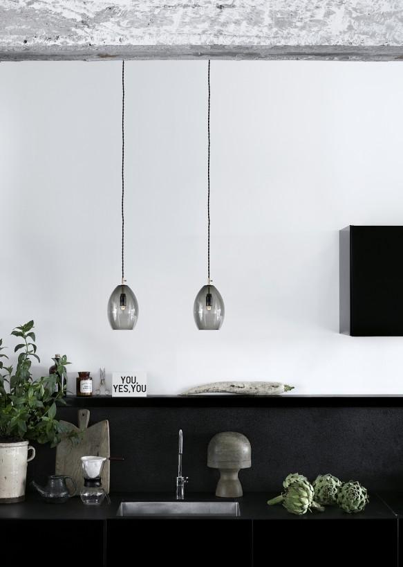 lampara gris vidrio northern lighting mallorca