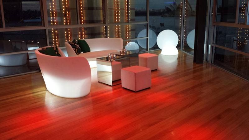 slide salon interior con luz
