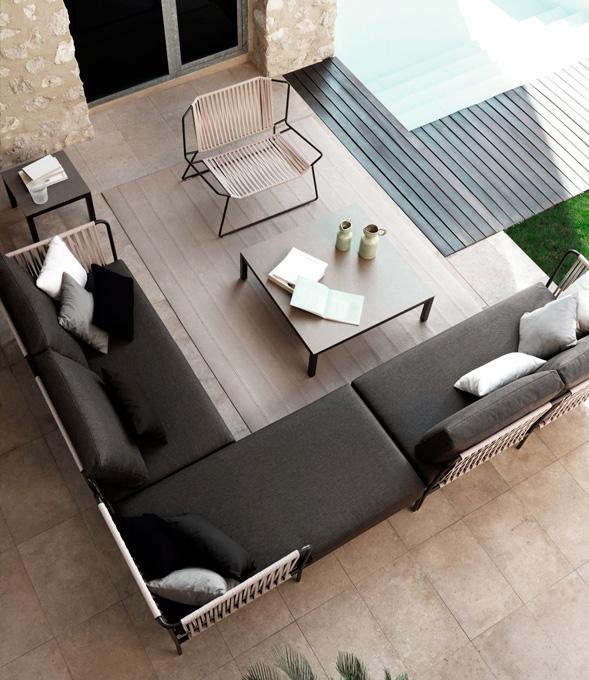 sofá modular gris expormim mallorca